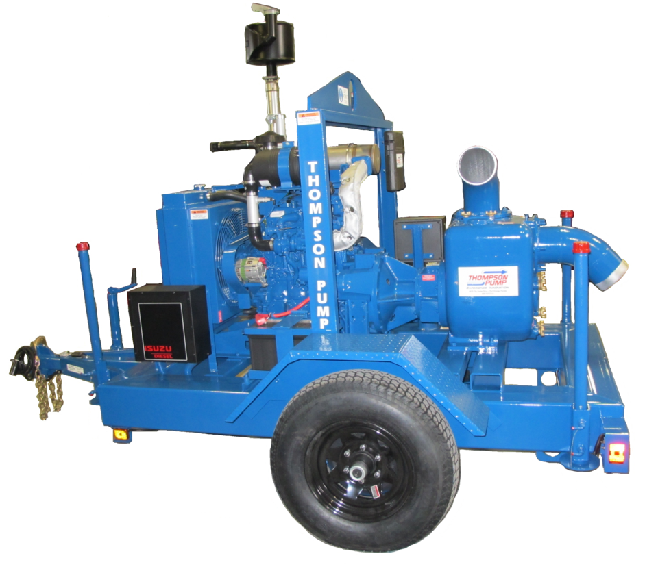Thompson Pump Introduces 6HT Wet-Prime Trash Pump With A Final Tier 4 Engine